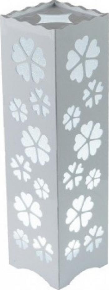 Lampa LED decorativa de birou model floral alb