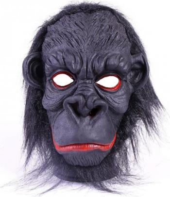 Masca amuzanta cap de gorila negru Casa  Gradina