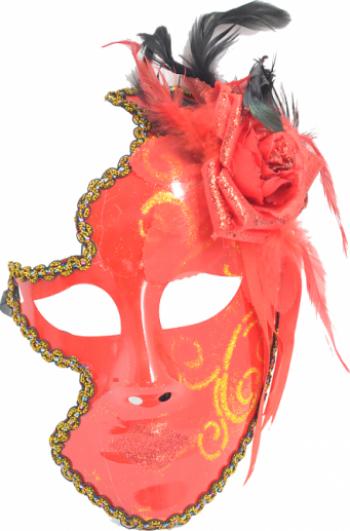 Masca carnaval venetian pentru femei rosu Casa  Gradina