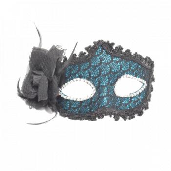 Masca carnaval venetian pentru ochi cu trandafir verde inchis Casa  Gradina