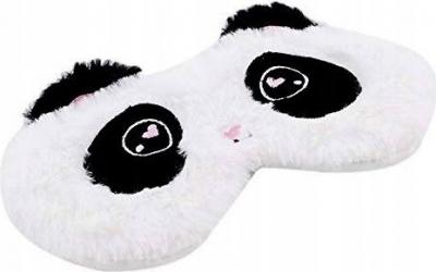Masca de dormit din bumbac model ochisori panda albnegru Gonga Casa  Gradina