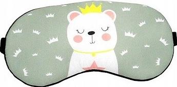 Masca de dormit din satin model Urs Polar Gonga