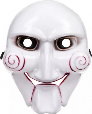 Masca horror pentru Halloween model Saw alb