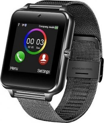 Smartwatch GT08 curea metalica negru