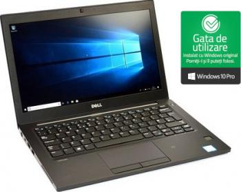 Laptop DELL Latitude E7280 i5-6200U 2.3GHz 8GB DDR4 256GB NVMe SSD Webcam 12.5 inch Refurbished Win10 Pro