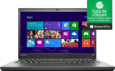 Laptop Lenovo ThinkPad T440s Intel Core i5-4300U 1.90GHz up to 2.90GHz 4GB DDR3 128GB SSD 14inch Webcam Win10 Pro Refurbished Laptopuri Renew & Refurbished