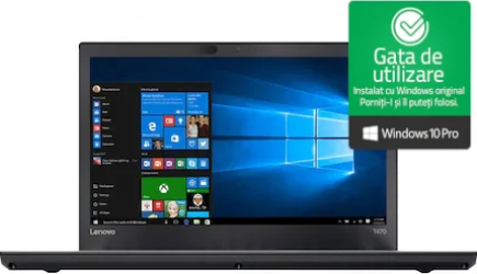Laptop Lenovo ThinkPad T470s Intel Core i7-6600 2.80GHz up to 3.40GHz 8GB DDR4 256GB SSD 14inch FHD Webcam Win10 Pro Refurbished