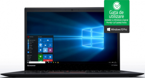 Laptop Lenovo X1 Carbon G3 Intel Core i5-5300U 2.30GHz up to 2.90GHz 8GB RAM DDR3 128GB SSD 14 inch Win10 Pro Refurbished Laptopuri Renew  Refurbished