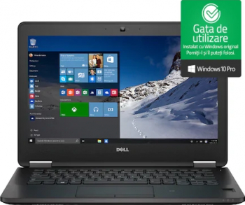 pret preturi Laptop Dell Latitude E7270 i5-6300U 2.40GHz 8GB DDR4 256GB SSD Webcam 12.5 Windows 10 Professional Refurbished