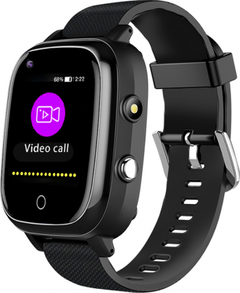 Ceas smartwatch GPS adulti si copii Techone and trade H10 4G apel video temperatura corporala ritm cardiac oxigen camera ultrapixel Negru Smartwatch
