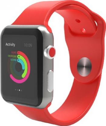 Curea Smart Watch Compatibila cu Apple Watch 1/2/3/4/5 Nike+ Bratara din Silicon Lata 42/44mm Rosie
