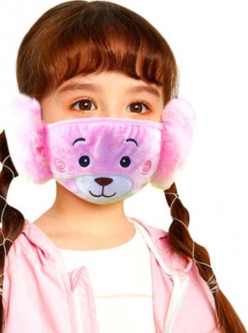 Masca de protectie textila pentru copii Neo Kids bumbac roz reutilizabila Masti chirurgicale si reutilizabile