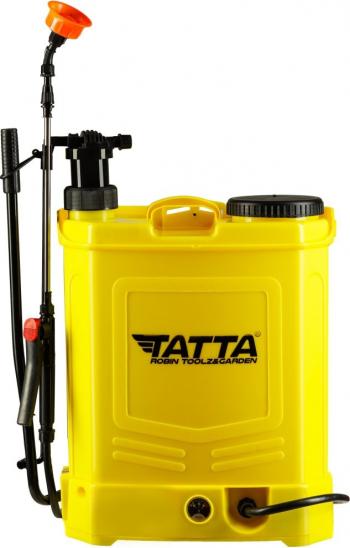 Pompa pentru stropit vermorel Tatta cu acumulator si actionare manuala 12V 8Ah incarcator 1 A motor 3.6LPM 20 l