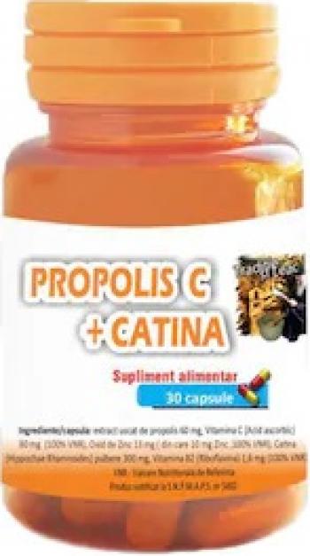 Propolis C Plus Catina 30 capsule 100 natural Vitamine si Suplimente nutritive