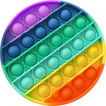 Set 2 jucarii antistres din silicon JAF Pop it now forma cerc 12.5 cm multicolor Jucarii Interactive