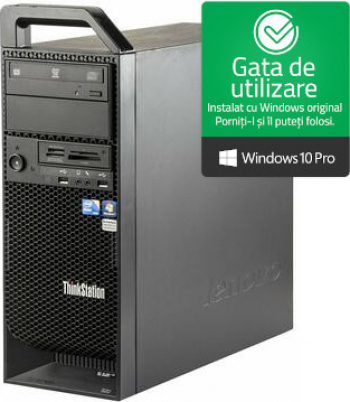 Calculator Lenovo ThinkStation S20 Intel Xeon E5607 2.26GHz 8GB DDR3 ECC 500GB HDD Nvidia Quadro 2000 1GB 128bit Refurbished Win10 PRO