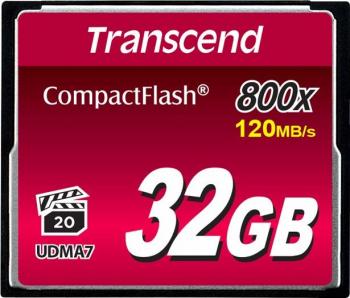 Card De Memorie Transcend TS32GCF800 Compact Flash 32GB 800x Negru Carduri Memorie