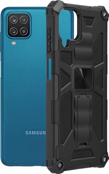 Husa Spate Upzz Tech Blazor Compatibila Cu Samsung Galaxy A12 Negru