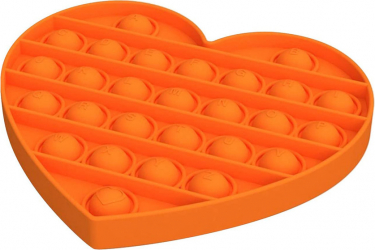 Jucarie antistres din silicon JAF Pop it now forma inima 15x12.5x1.5 cm portocaliu Jucarii Interactive