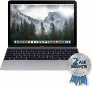 Laptop Refurbished APPLE MacBook A1534 Core M-5Y31 up to 2400MHz/ 8GB DDR3/ SSD 256GB PCIe NVMe/ Display 12 inch Retina/ MacOS Big Sur