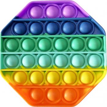 Set 2 jucarii antistres din silicon JAF Pop it now forma octagon 12.5 cm multicolor Jucarii Interactive