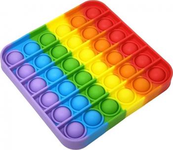 Set 2 jucarii antistres din silicon JAF Pop it now forma patrat 12.5 cm multicolor Jucarii Interactive