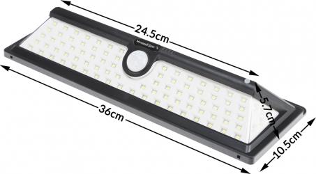 Aplica solara de perete cu senzor de miscare 90 LED-uri Corpuri de iluminat