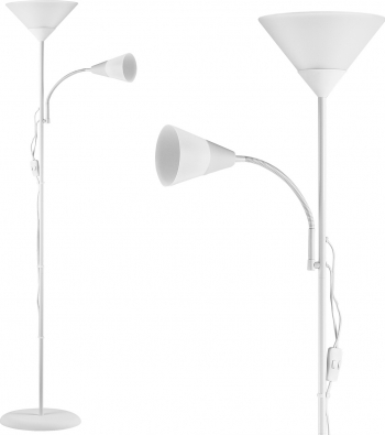 Lampa de podea Lumina alba Capete comutabile separat Alb Corpuri de iluminat