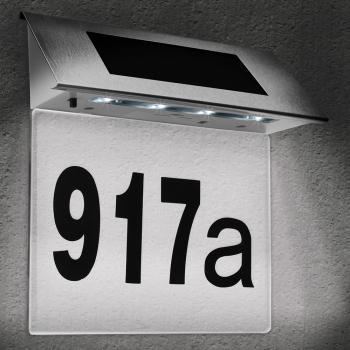 Numar de casa LED cu incarcare solara Cifre 0-9 Litere A-H Corpuri de iluminat