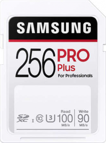 Carduri De Memorie Samsung Evo Plus 256GB Full SD 100MB/s Alb Carduri Memorie