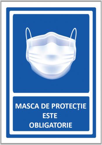 Set de 2 indicatoare A5 - Masca de protectie este obligatorie Sisteme de afisare si prezentare