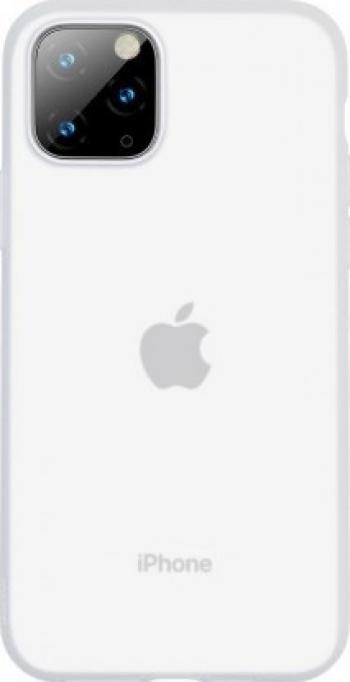 Husa protectie Baseus pentru iPhone 11 Pro Liquid Silica Gel Protective Clear White Huse Telefoane