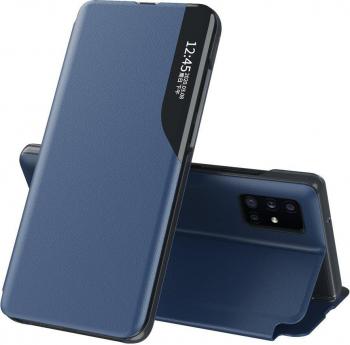 Husa Smart View compatibila cu Apple iPhone 11 Pro Max e- Fold Dark Blue Huse Telefoane