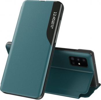 Husa Smart View compatibila cu Apple iPhone 11 Pro Max e- Fold Dark Green Huse Telefoane