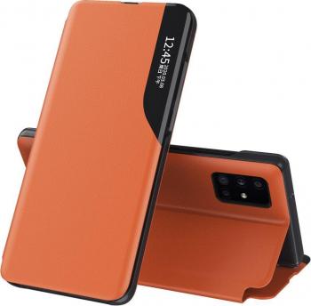 Husa Smart View compatibila cu Apple iPhone 11 Pro Max e- Fold Orange Huse Telefoane