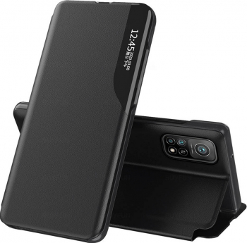 Husa Smart View compatibila cu Xiaomi MI 10T/10TPRO Cu Suport Black Huse Telefoane