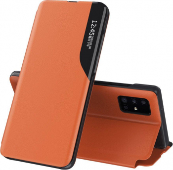 Husa Smart View compatibila cu Xiaomi MI 11 Cu Suport Orange