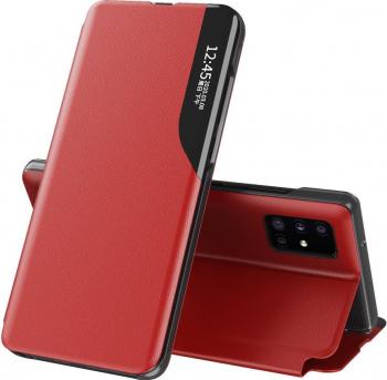 Husa Smart View compatibila cu Xiaomi MI 11 Cu Suport Rosu