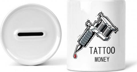 Pusculita personalizata Tattoo Money