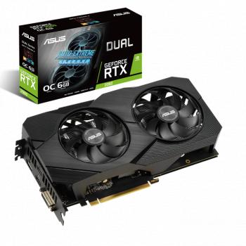 Placa video ASUS Dual GeForce RTX 2060 OC edition EVO 6GB GDDR6 192-bit