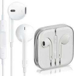Casti Apple EarPods Jack 3.5mm Stereo pentru Iphone 5 5S 5C SE 6 6S Albe Casti telefoane mobile