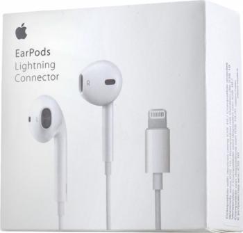 Casti Earphones pentru Iphone 7/7Plus/8/8Plus/X Lightning MMTN2ZM/A alb Blister Apple