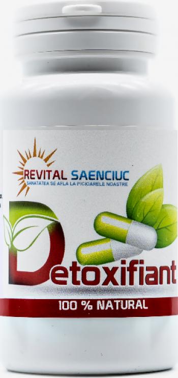 Detoxifiant 60 capsule produs naturist pentru detoxifierea organismului Revital Saenciuc Vitamine si Suplimente nutritive