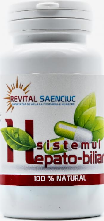 Hepato-biliar 60 capsule produs naturist pentru ficat si bila Revital Saenciuc Vitamine si Suplimente nutritive