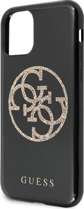 Husa de protectie Guess Glitter Circle iPhone 11 Pro Max Negru Huse Telefoane