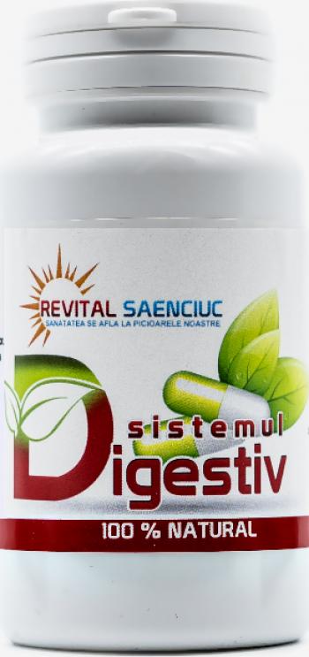 Sistem Digestiv 60 capsule produs naturist pentru afectiuni ale sistemului digestiv Revital Saenciuc Vitamine si Suplimente nutritive