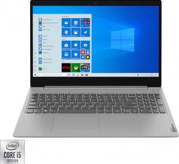 Laptop Lenovo IdeaPad 3 15IIL05 Intel Core (10th gen) i5-1035G1 256GB SSD 8GB FullHD Win10 T. Ilum. Platinum Grey Laptop laptopuri