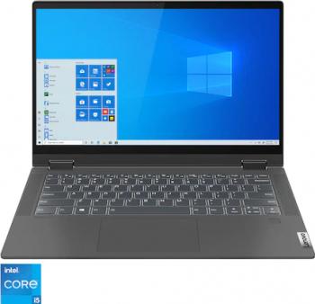Ultrabook 2in1 Lenovo Ideapad Flex 5 14ITL05 Intel Core (11th gen) i5-1135G7 512GB SSD 16GB Intel Iris Xe FullHD Touch Win10 T. Ilum. FPR Gr Laptop laptopuri