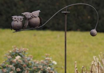 Figurina metal Balance owls Obiecte de arta