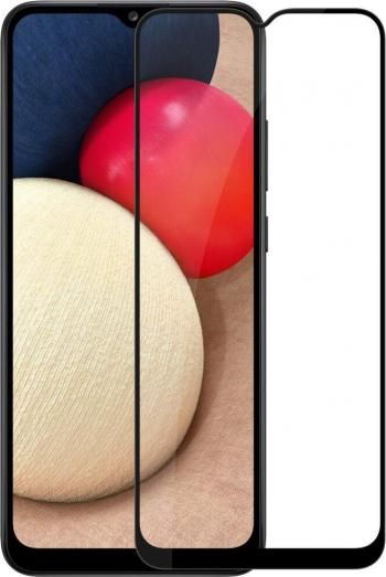 Folie Sticla Full Cover Full Glue Upzz Compatibila Cu Samsung Galaxy A02s Cu Adeziv Pe Toata Suprafata Foliei Neagra